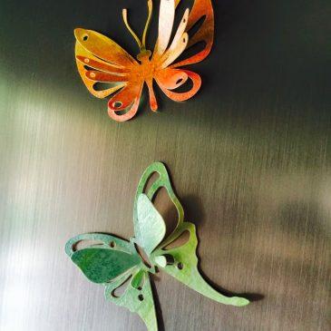 Mariposas de papel de acuarela