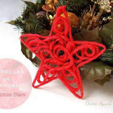 Estrella de navidad de lana