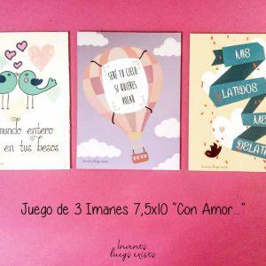 Pack de 3 Imanes «Con Amor…»
