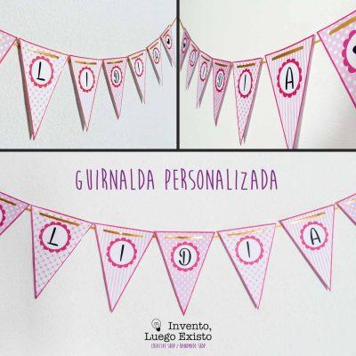 Guirnalda Personalizada Rosa